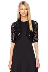 Michael Kors Sequined Openknit Shrug - Lyst
