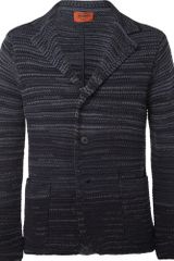 Missoni Striped Knitted Woolblend Blazer - Lyst