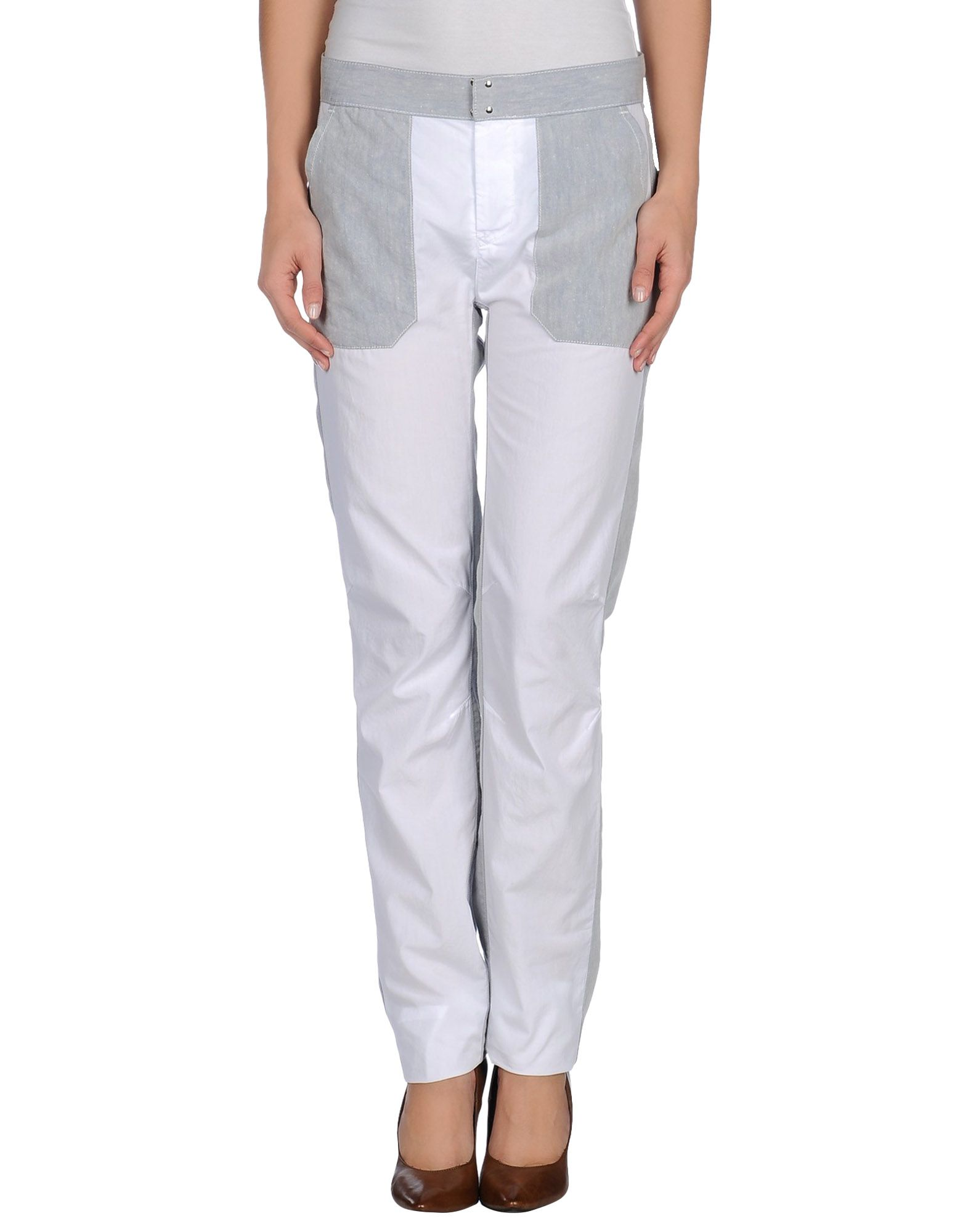 Mm6 by maison martin margiela casual trouser in white lyst for 10 moulmein rise la maison