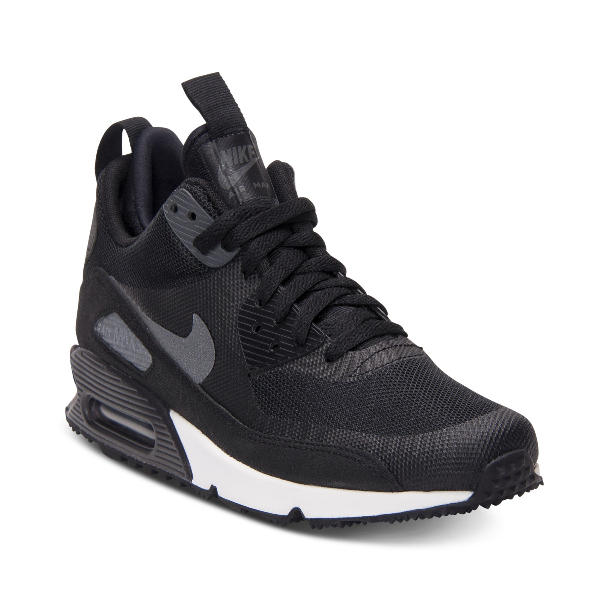online retailer df6d3 52822 Lyst - Nike Air Max 90 Mid No Sew Running Sneakers in Black for Men