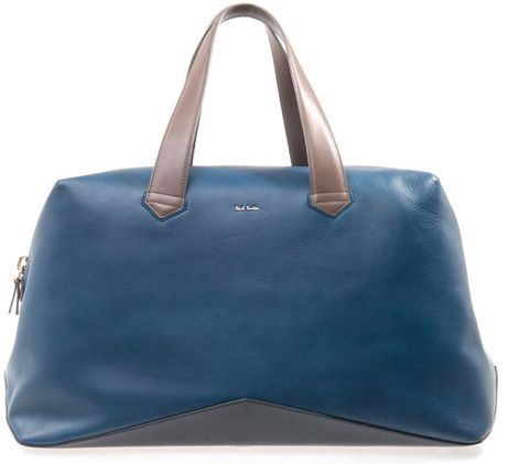 Paul Smith Leather Weekend Bag in Blue for Men (teal)