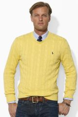Polo Ralph Lauren Cotton Cabled Crew - Lyst