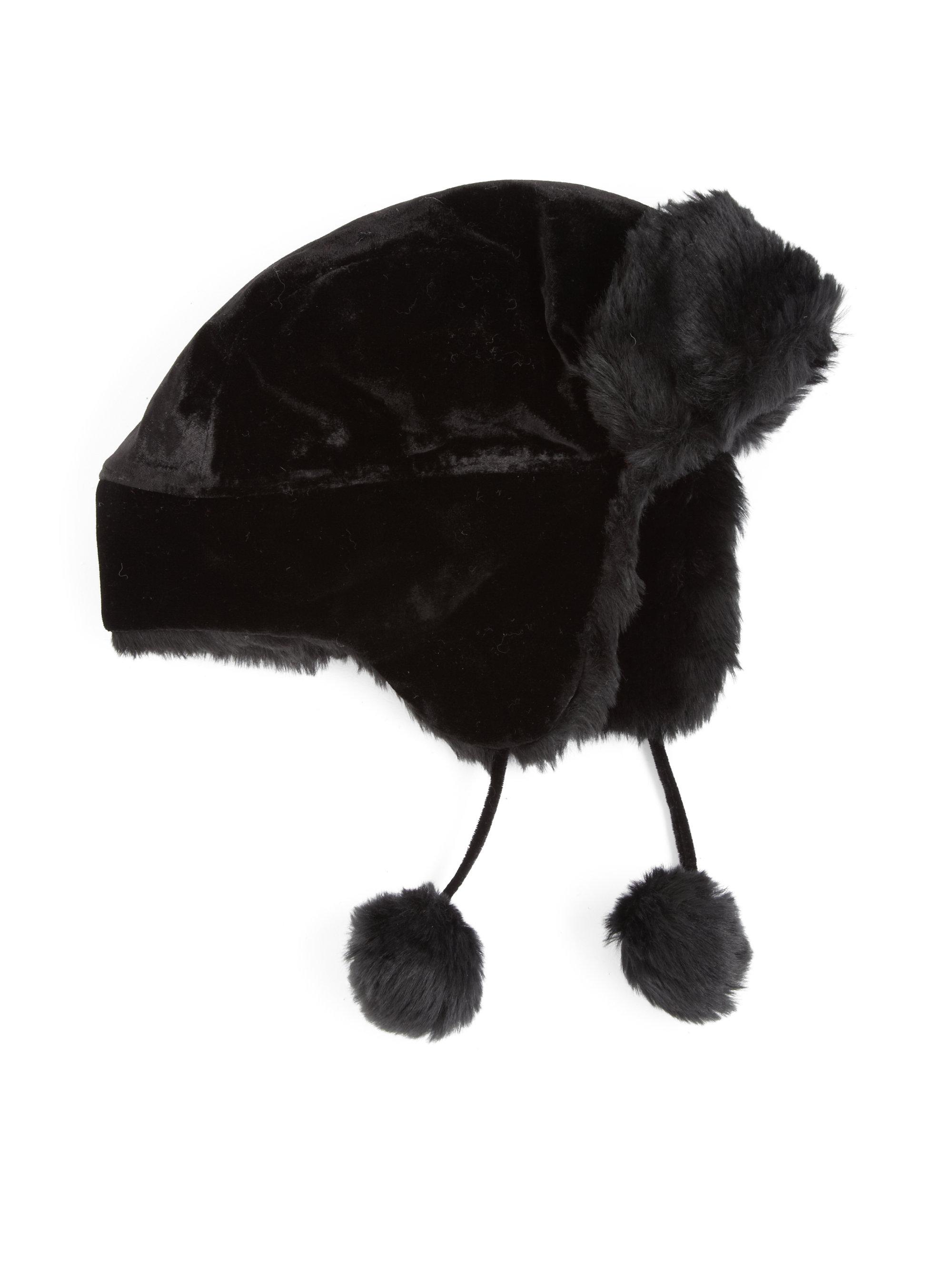 4b03c489883e2 Lyst - Ralph Lauren Velvet Trapper Hat in Black