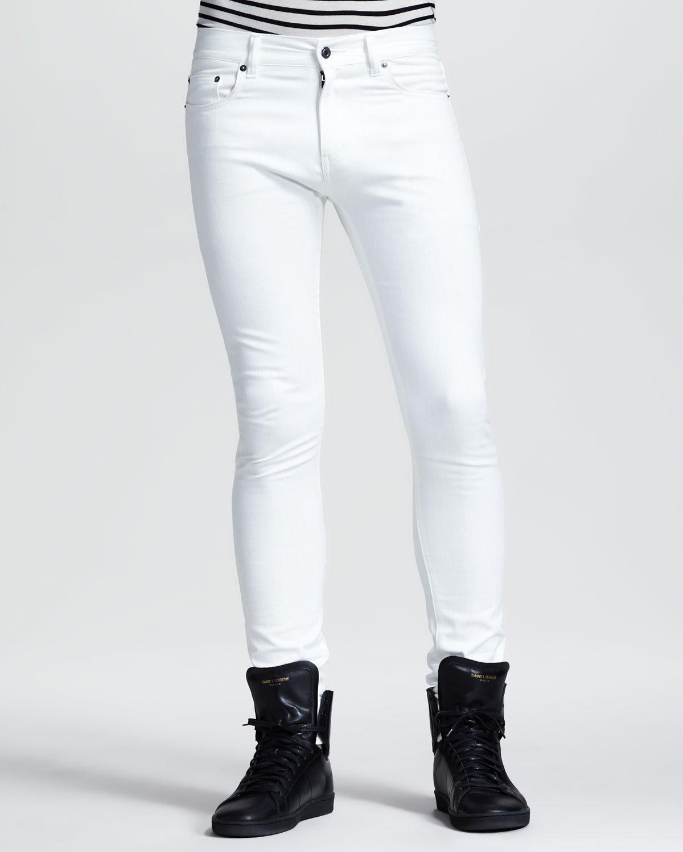 White skinny jeans men