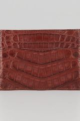 Santiago Gonzalez Crocodile Card Holder  - Lyst