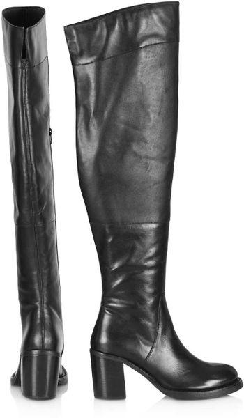 topshop commander knee boots in black lyst
