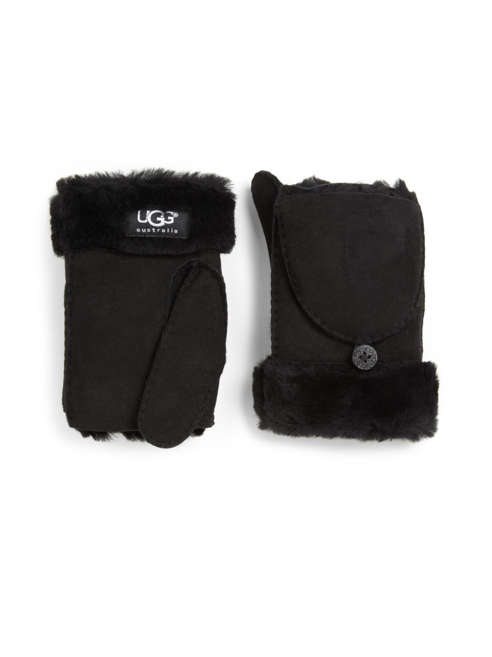 ugg ladies sheepskin mittens