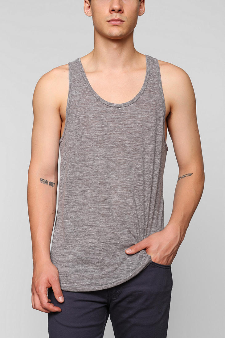 Bdg Bdg Triblend Slub Tank Top In Gray For Men