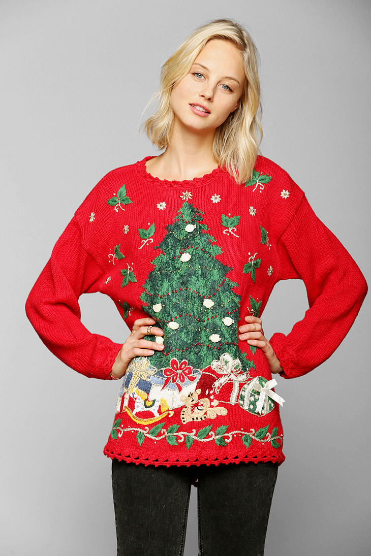 Lyst - Urban outfitters Christmas Sweater in Red