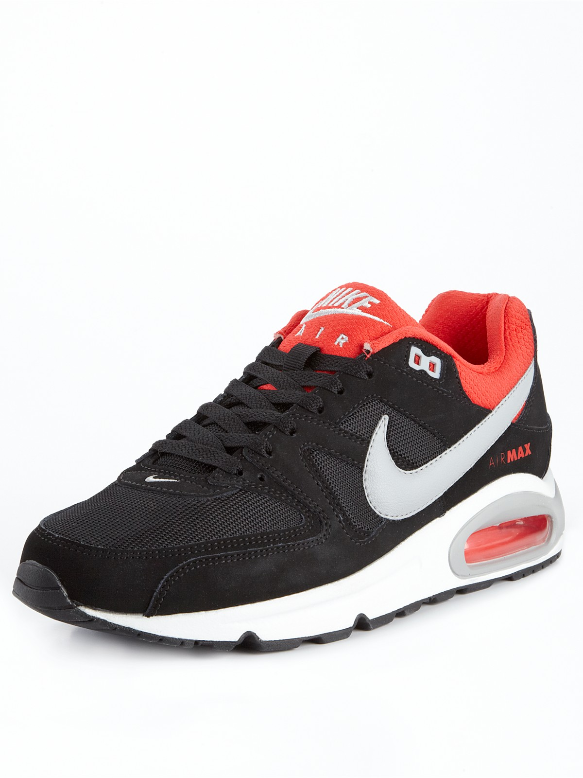 nike nike air max command in red for men black white red. Black Bedroom Furniture Sets. Home Design Ideas