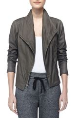 Vince Paper Asymmetric Leather Jacket - Lyst