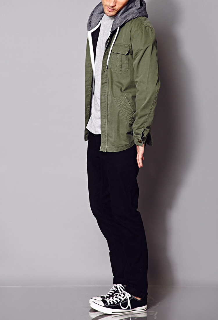 Lyst - Forever 21 Minimalist Military Jacket In Green For Men