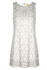 Alice + Olivia Dot Embellished Shift Dress - Lyst