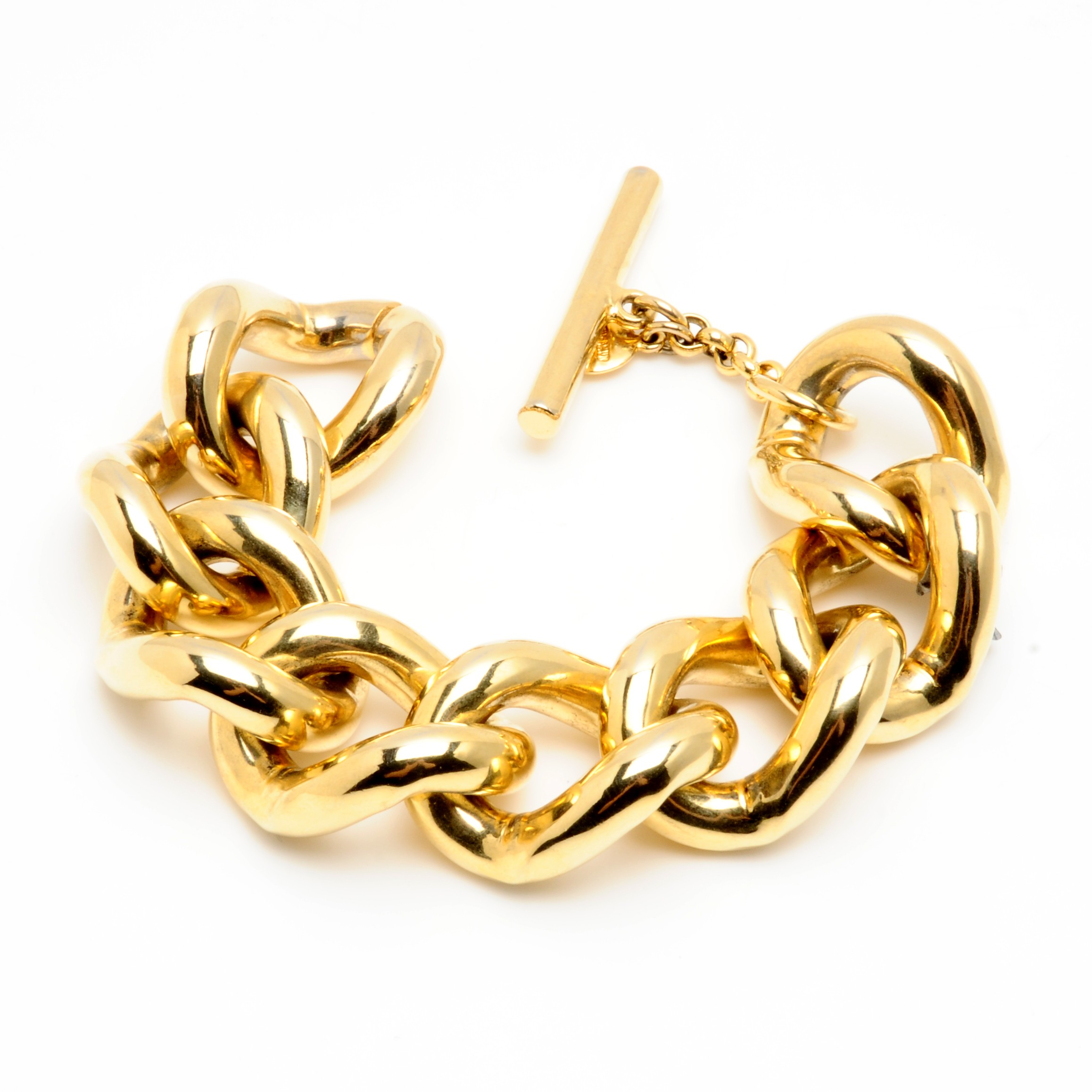 Ben Amun Gold Chain Link Bracelet in Gold | Lyst