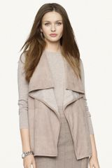 Black Label Draped Front Cashmere Cardigan - Lyst