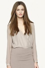 Black Label Silk Raina Blouse - Lyst