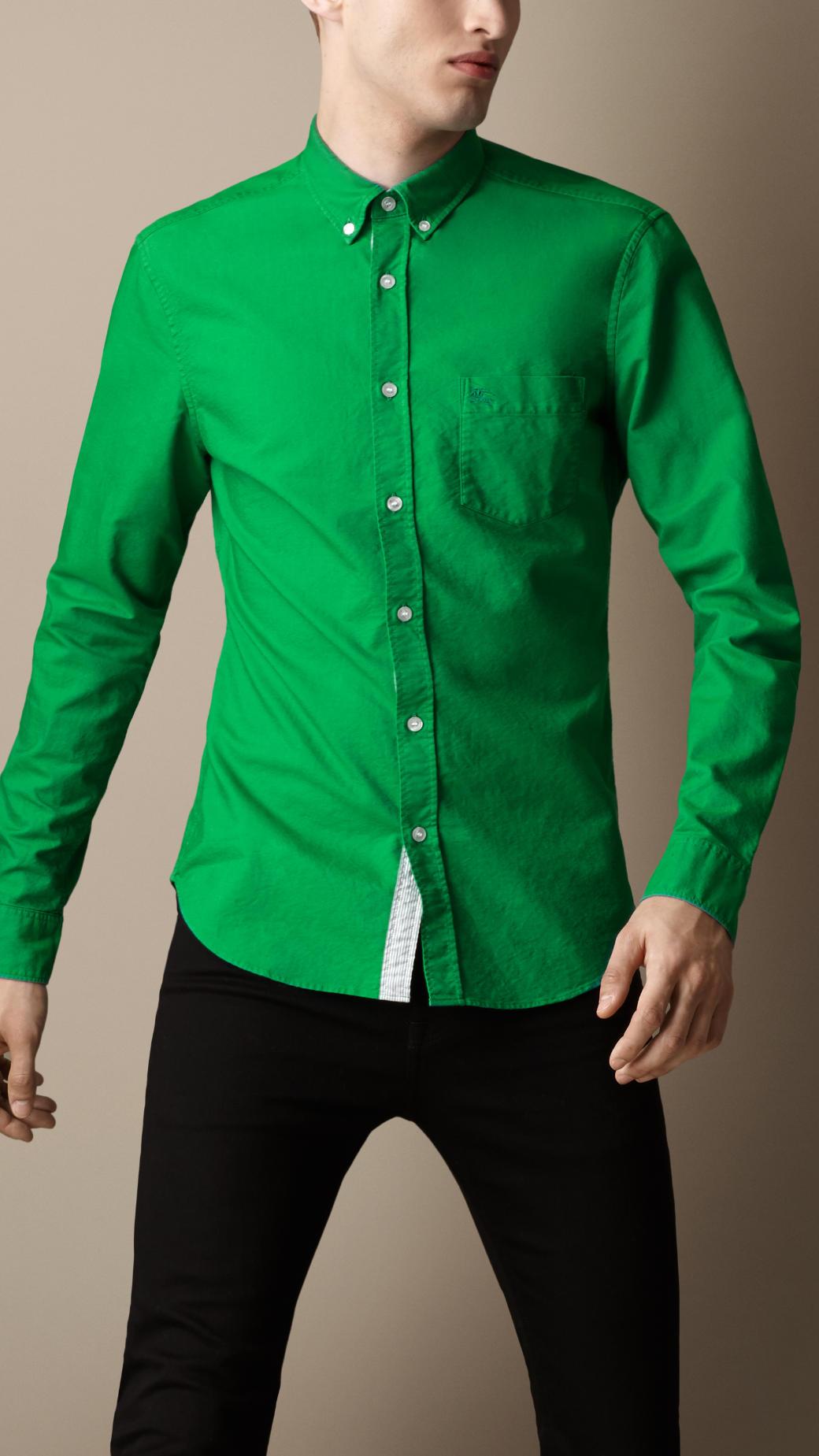 Emerald Green Dress Shirt Mens