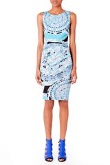Emilio Pucci Printed Fitted Jersey Dress - Lyst