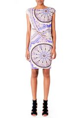 Emilio Pucci Draped Printed Jersey Dress - Lyst