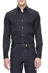 Ermenegildo Zegna 3ply Cotton Shirt Black - Lyst