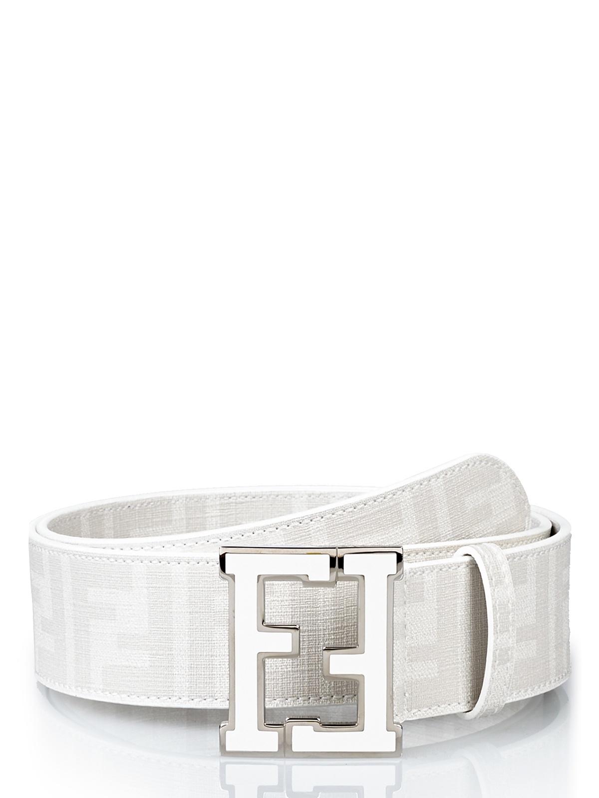 Fendi Belt In White Lyst