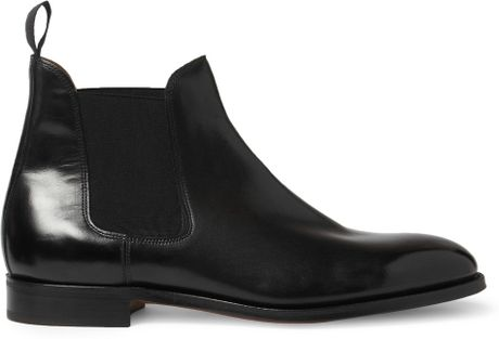 John Lobb Chesland Leather Chelsea Boots In Black For Men