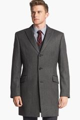 John Varvatos Sheffield Wool Blend Topcoat - Lyst