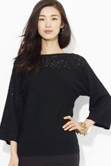 Ralph Lauren Dolman Sleeve Boat Neck Sweater - Lyst