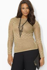 Ralph Lauren Metallic Sweater - Lyst