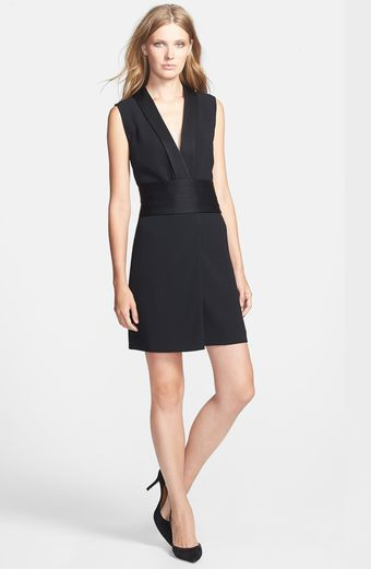 Marc By Marc Jacobs Anya Tuxedo Crepe Dress - Lyst