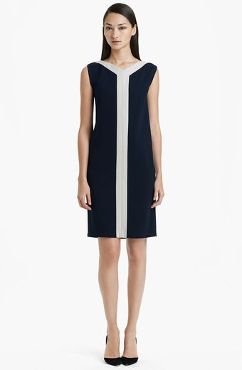 Max Mara Park Sleeveless Contrast Trim Dress - Lyst