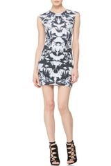 McQ by Alexander McQueen Fitted Capsleeve Bird Dress - Lyst