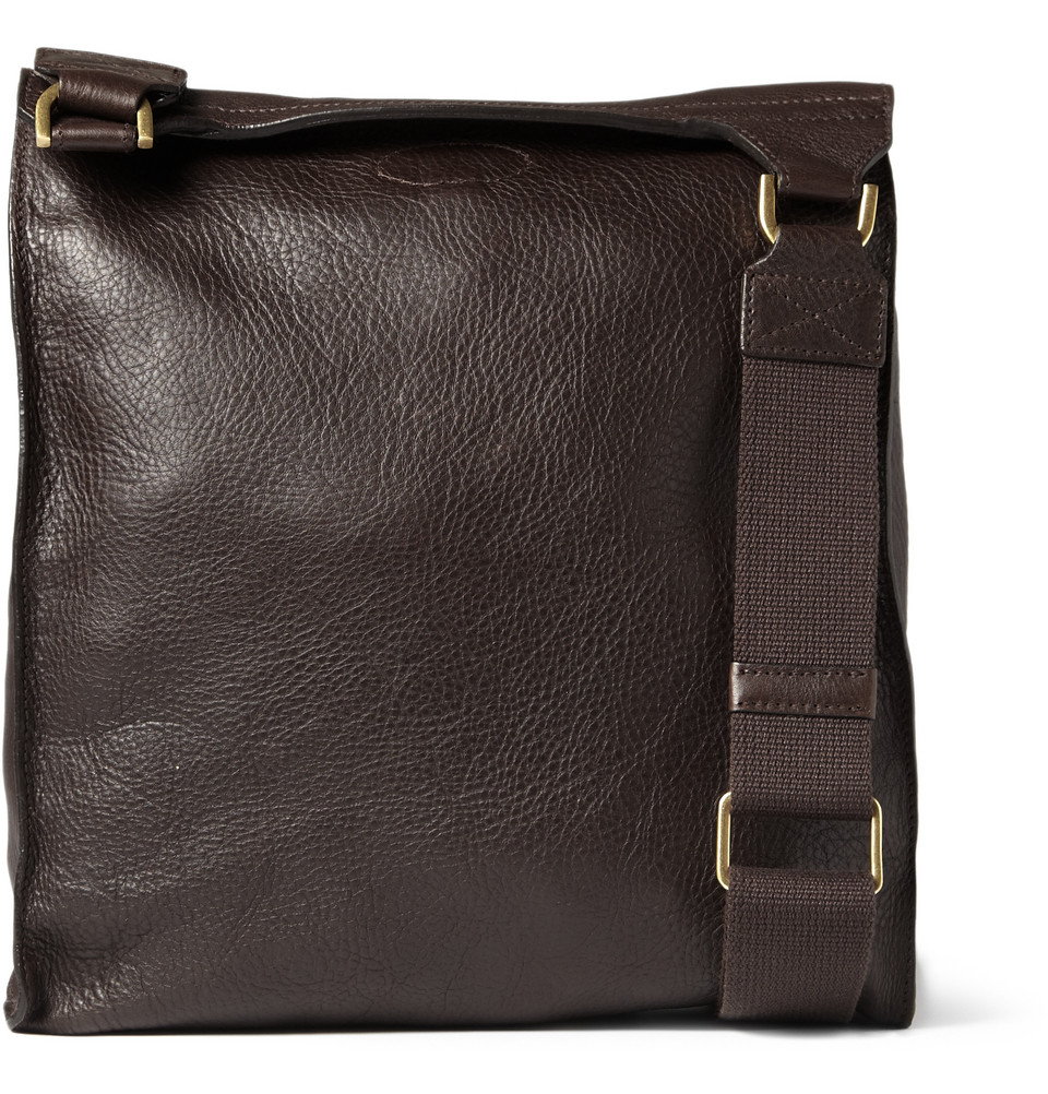Lyst Mulberry Antony Leather Messenger Bag In Brown For Men