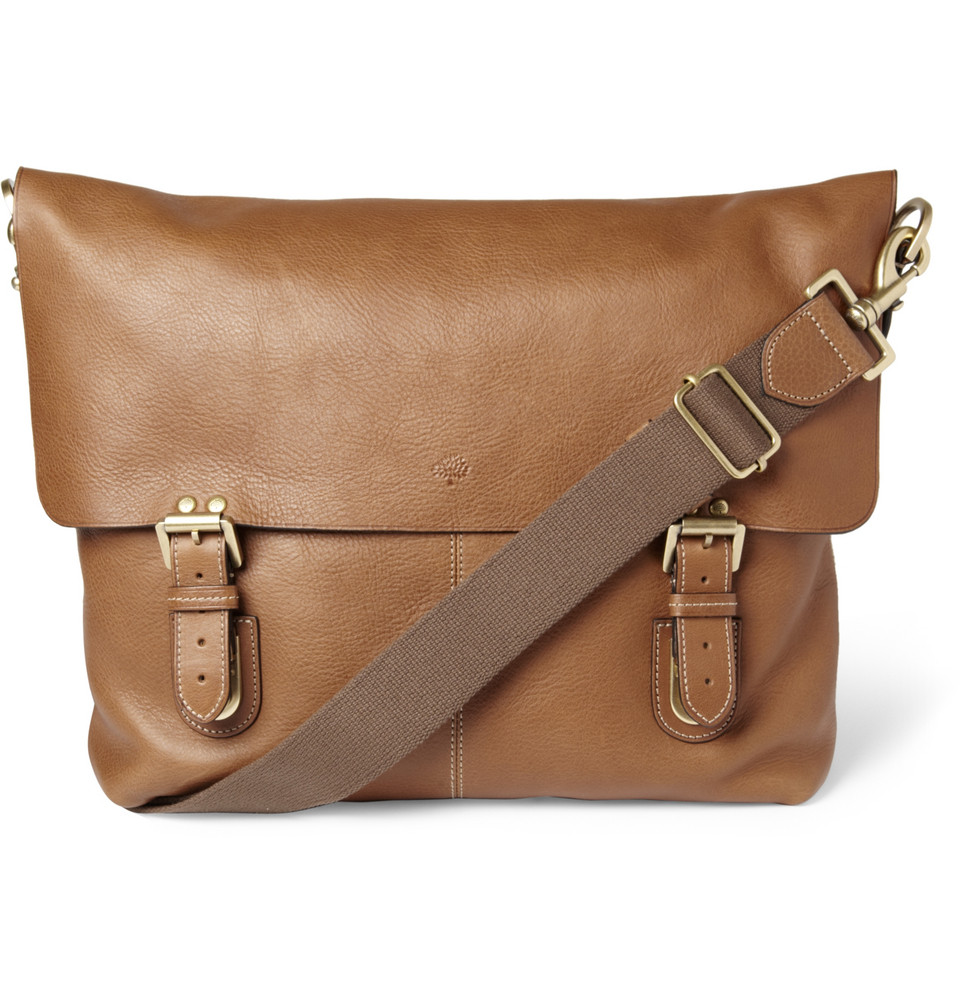 eecdb9403daa ... reduced lyst mulberry barnaby leather messenger bag in brown for men  055b6 11407