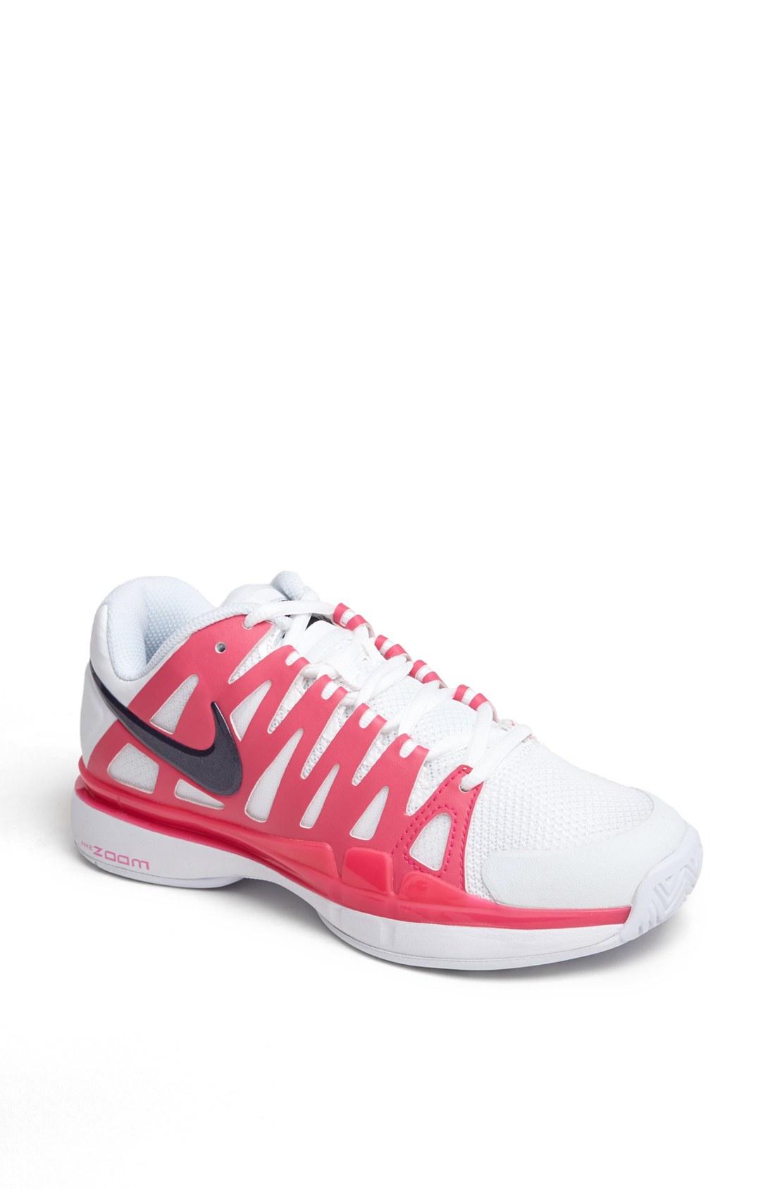 Nike Zoom Vapor 9 Tour Tennis Shoe in Pink (White/ Purple ...