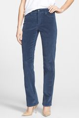 Nydj Marilyn Colored Straight Leg Fine Wale Corduroy Pants - Lyst