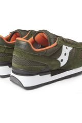 Saucony Shadow Original Suede and Mesh Sneakers in Green for Men - Lyst