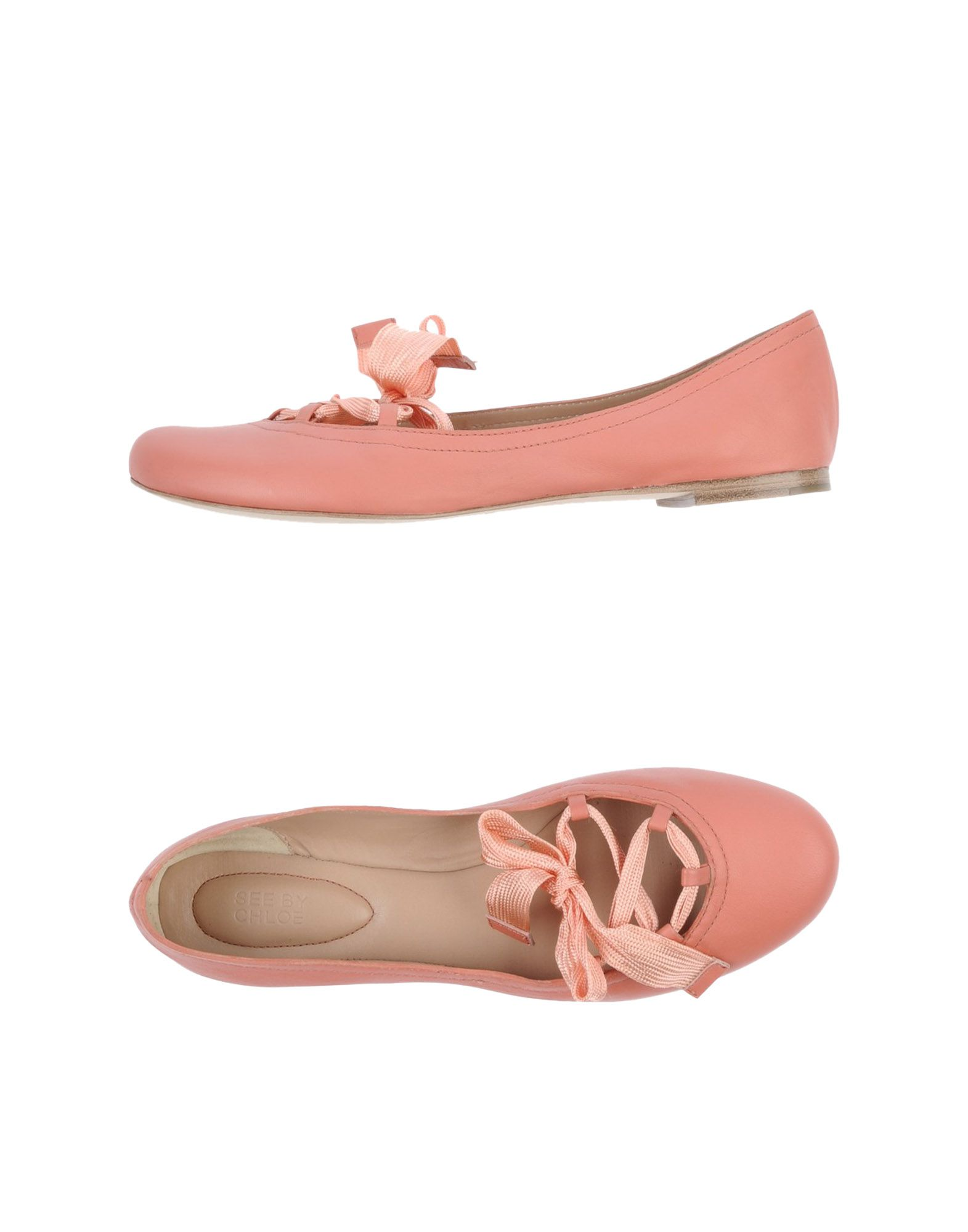 see by chlo ballet flats in pink coral lyst. Black Bedroom Furniture Sets. Home Design Ideas