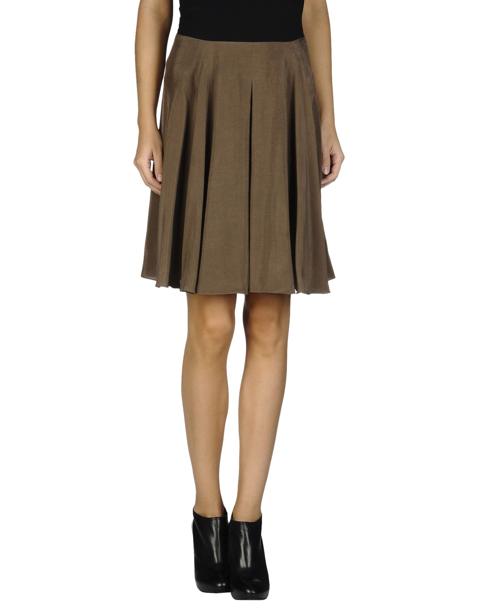 see by chlo 233 knee length skirt in khaki save