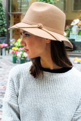 Glassworks Tan Felt Wool Floppy Hat - Lyst