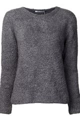 T By Alexander Wang Slub Round Neck Sweater - Lyst