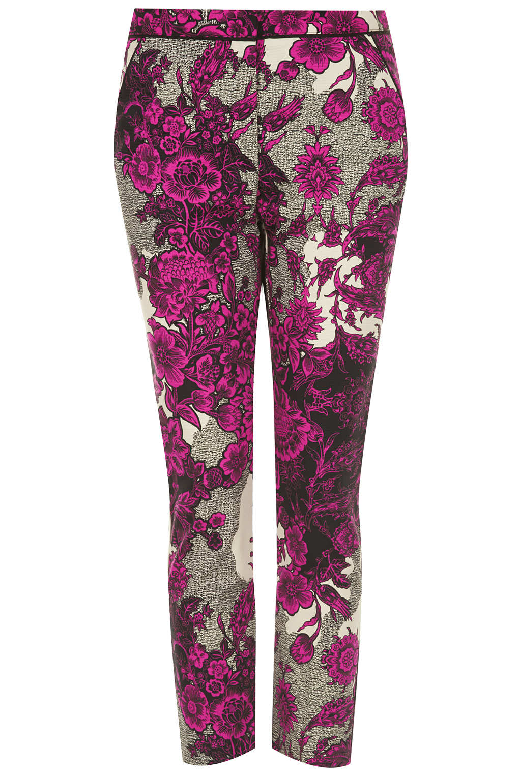 Lyst Topshop Oriental Floral Cigarette Trousers In Pink