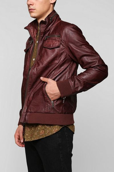 Urban Outfitters Vegan Leather Jacket In Brown For Men Lyst