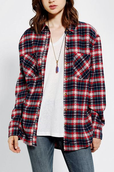 Category Tops Brand Brand: Lauren James Description. Ladies, no longer will you have to steal your boyfriends button downs. Lauren James is proud to introduce one of their newest products, the Boyfriend Flannel, which is crafted from % cotton making it extremely soft and easy to wear.