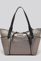 Cole Haan Tote Parker Small Metallic Colorblock Shopper - Lyst