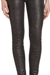 Current/Elliott The Ankle Skinny Black - Lyst