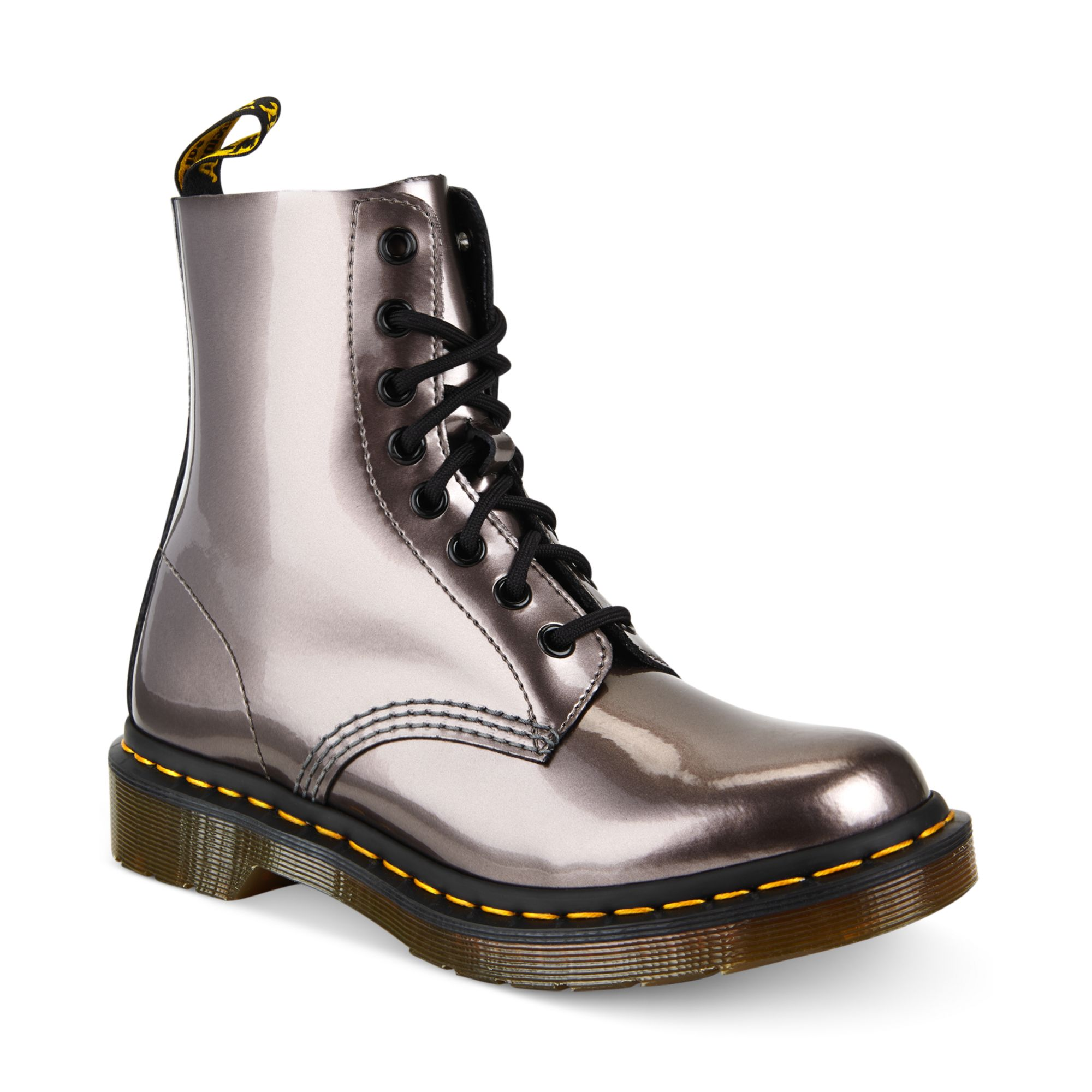 Lyst Dr Martens Ankle Boots In Metallic