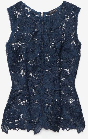 Exclusive For Intermix Sleeveless Lace Cut Out Top  - Lyst