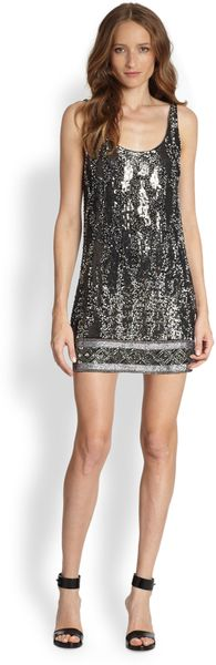 Haute Hippie Embellished Scoopback Dress - Lyst