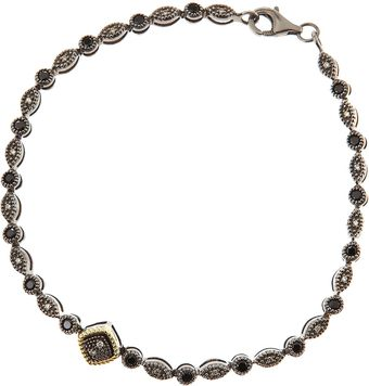 Judefrances Jewelry Shake Pebble Spinel and Gray Diamond Bracelet - Lyst